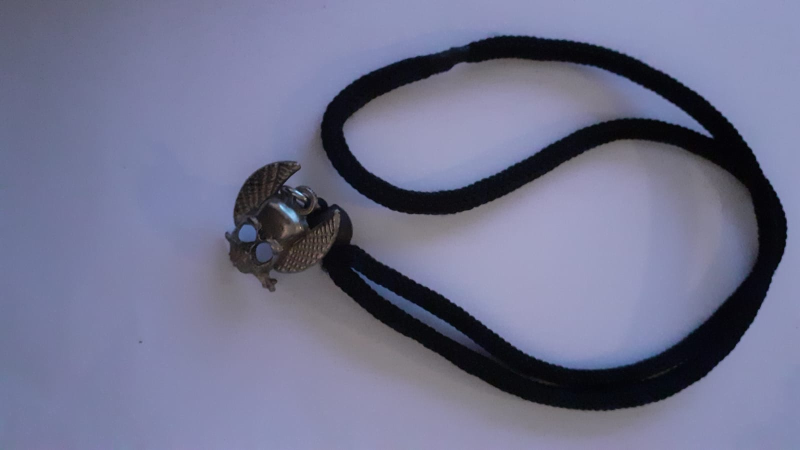 Detailed Skull Necklace with Tightening Knot