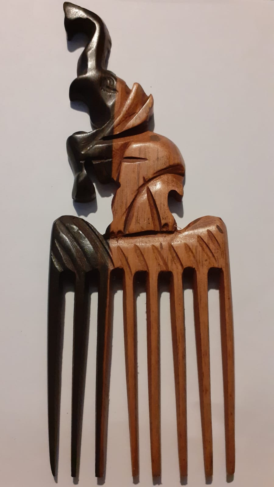Hand-Carved Wooden Comb