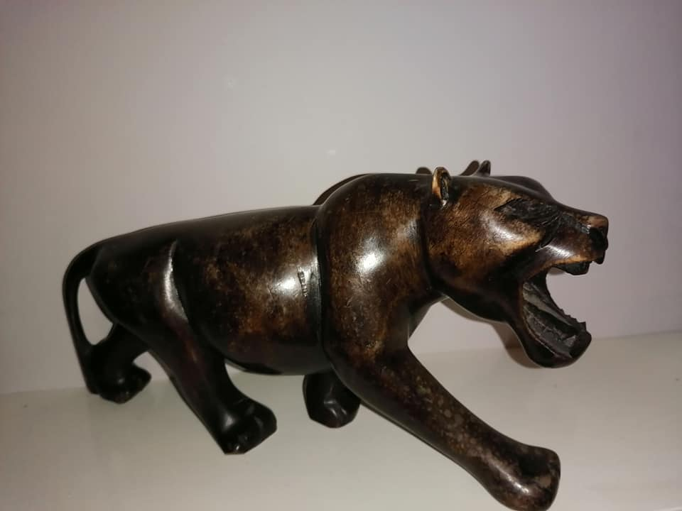 Vintage hand-carved tiger